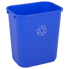 CON4114-1 - ContinentalRectangular Recycling Wastebaskets