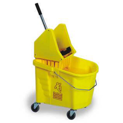 CON335-37YW - ContinentalSplash Guard™ Mop Bucket with Down-Press Combo Pack