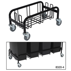 CON8320-4 - Continental - Wall Hugger™ Quad-Collection Steel Dolly