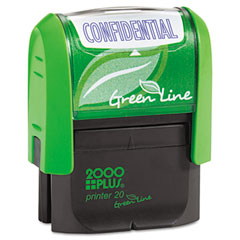 COS035346 - 2000 PLUS® Green Line Self-Inking Message Stamp