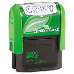 COS035347 - 2000 PLUS® Green Line Self-Inking Message Stamp