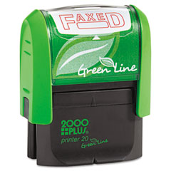 COS035349 - 2000 PLUS® Green Line Self-Inking Message Stamp