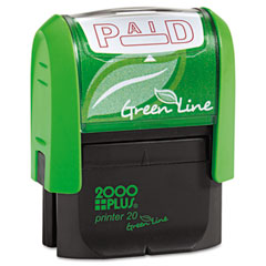 COS035350 - 2000 PLUS® Green Line Self-Inking Message Stamp