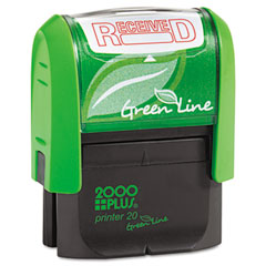 COS035352 - 2000 PLUS® Green Line Self-Inking Message Stamp