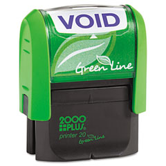 COS035353 - 2000 PLUS® Green Line Self-Inking Message Stamp