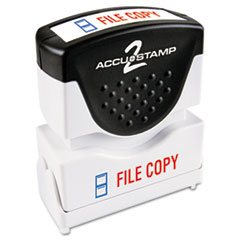 COS035524 - Accustamp2 Pre-Inked Shutter Stamp with Microban®
