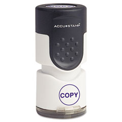 COS035653 - Accustamp Pre-Inked Round Stamp with Microban