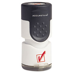 COS035658 - Accustamp Pre-Inked Round Stamp with Microban