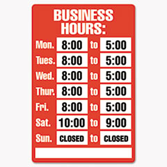 COS098072 - COSCO Business Hours Sign Kit