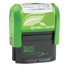 COS1SI20PGL - 2000 PLUS® Green Line Self-Inking Custom Message Stamp