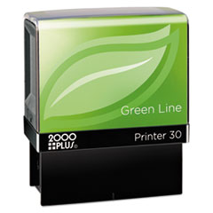COS1SI30PGL - 2000 PLUS® Green Line Self-Inking Custom Message Stamp