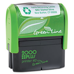 COS1SI40PGL - 2000 PLUS® Green Line Self-Inking Custom Message Stamp