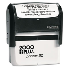 COS1SI50P - 2000 PLUS® Self-Inking Custom Message Stamp with Microban