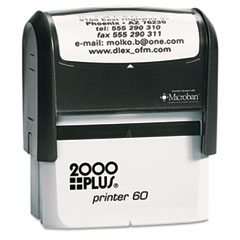 COS1SI60P - 2000 PLUS® Self-Inking Custom Message Stamp with Microban
