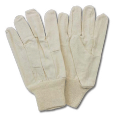 SFZGC08-MN-2C - Safety ZoneMens Cotton Polyester Canvas Gloves w/Knit Wrist