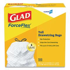 COX78526 - Glad® Tall Kitchen Drawstring Bags