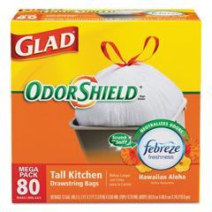 COX78605 - Glad® OdorShield® Tall Kitchen Drawstring Bags