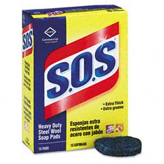 COX88320BX - Clorox® S.O.S® Steel Wool Soap Pad
