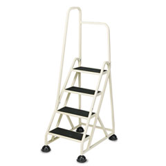 """CRA1041L19 - Cramer® Four-Step """"Stop-Step"""" Aluminum Ladder with Handrail"""