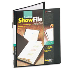 CRD50232 - Cardinal® ShowFile™ Presentation Book with Custom Cover Pocket