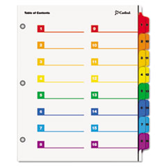 CRD60970 - Cardinal® OneStep® Printable Table of Contents and Dividers - Double Column