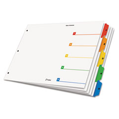 CRD84893 - Cardinal® Tabloid-Size OneStep® Printable Table of Contents and Dividers