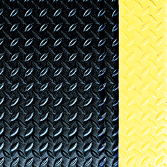 CRMWD1235YB - Crown MatsWorkers-Delight Supreme Deck Plate Anti-Fatigue Mat with Foam Backing