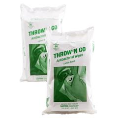 CRPTNG-WIPES-80-24 - Crown ProductsThrow N Go Antibacterial Wipes