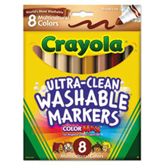 CYO587801 - Crayola® Multicultural Colors Washable Marker