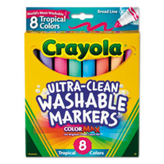 CYO587816 - Crayola® Tropical Color Washable Markers