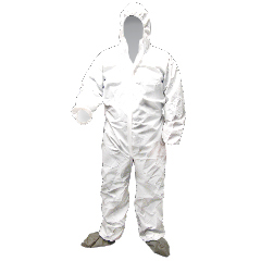 HSCDA-MP340 - HospecoProworks® Breathable Liquid & Particulate Protection Coveralls- Medium