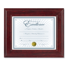 DAXN15787NT - DAX® Executive Mahogany Finish Document Frame