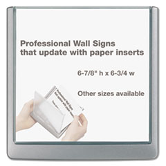 DBL497837 - Durable® Click Sign Holder For Interior Walls