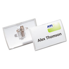 DBL821419 - Durable® Click-Fold® Convex Name Badge Holders