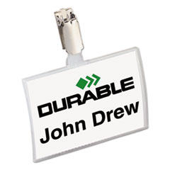 DBL821619 - Durable® Click-Fold® Convex Name Badge Holders