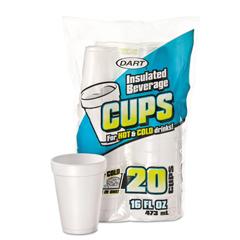 DCC16FP20 - Dart® Large Foam Drink Cups