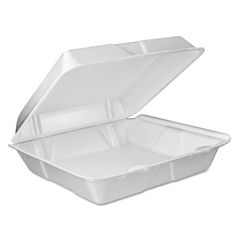 DCC90HTPF1VR - Dart® Foam Hinged Lid Containers