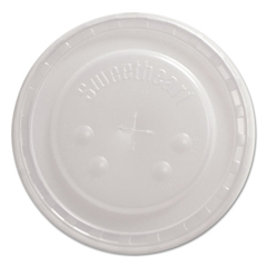 DCCL44BN - Dart® Polystyrene Plastic Flat Straw-Slot Cold Cup Lids