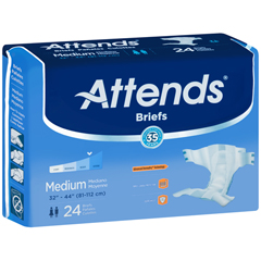 MON20423101 - AttendsIncontinent Brief Attends Tab Closure Medium Disposable Moderate Absorbency