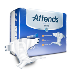 MON22553101 - AttendsAdvanced® Heavy Absorbency Briefs, Regular, 20/BG