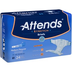 MON98021396 - AttendsIncontinent Brief Attends Tab Closure Medium / Regular Disposable Moderate Absorbency