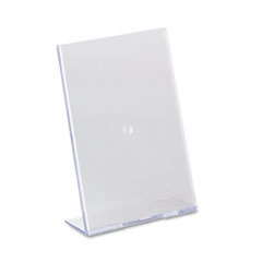 DEF590301 - deflect-o® Slanted Desktop Sign Holder