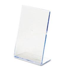 DEF590401 - deflect-o® Slanted Desktop Sign Holder