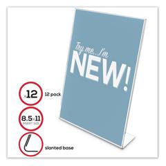 DEF69701VP - deflecto® Classic Image® Slanted Sign Holder