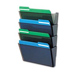 DEF73402 - deflect-o® DocuPocket® Stackable Four-Pocket Wall Set