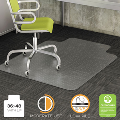 DEFCM13113COM - deflecto® DuraMat® Moderate Use Chair Mat for Low Pile Carpeting
