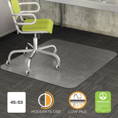 DEFCM13142 - deflecto® DuraMat® Moderate Use Chair Mat for Low Pile Carpeting