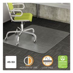 DEFCM13243COM - deflecto® DuraMat® Moderate Use Chair Mat for Low Pile Carpeting