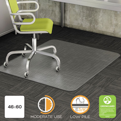 DEFCM13443FCOM - deflecto® DuraMat® Moderate Use Chair Mat for Low Pile Carpeting