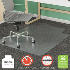 DEFCM14113COM - deflecto® SuperMat Frequent Use Chair Mat for Medium Pile Carpeting